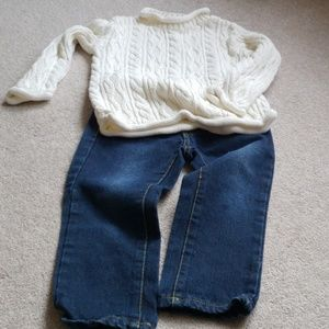 Sonoma Cream Cable Knit Sweater